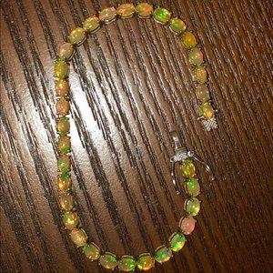 Jewelry - Genuine Opal Tennis bracelet